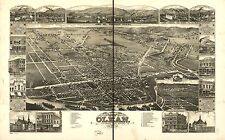 Photo Reprint Antique American Cities Towns States Map Olean New York