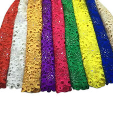 African Heavy beaded sequined Chemical Guipure Cord Lace Fabric
