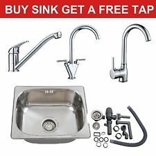 Single Bowl Stainless Steel Undermount / Topmount Kitchen Laundry Sink 420X360mm