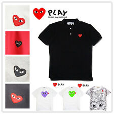 Comme Des Garcons CDG Play Cartoon White T-Shirts Polo Shirt Red Heart Tee