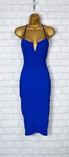 ~ZULA~ Blue Midi Bodycon Pencil Wiggle Evening Party Dress Size 8 10 12 14