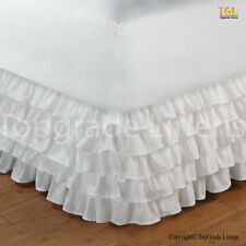 Sale  1000TC 100% Egyptian Cotton Ruffle Bed Skirt - White Color Choose Size