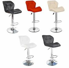 Faux Leather Breakfast Bar Stools PU Swivel Stool Kitchen Barstools Dining Chair