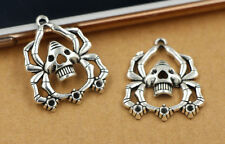 3/15/60pcs Tibetan Silver Lovely Spider Skull Jewelry Charms Pendant 56x19mm