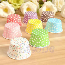 50pcs Paper Cake Cup Cupcake Wrapper Cases Muffin Baking Wedding XMAS Party