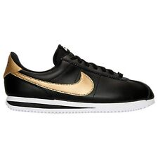 MENS NIKE CORTEZ BASIC LEATHER SE BLACK/GOLD CASUAL SHOES MEN'S SELECT YOUR SIZE