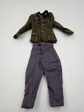 """1/6 WWII German Wehrmacht Coat Jacket Trousers Uniform Clothes for 12"""" Figure"""