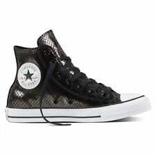 Converse CT All Star Metallic Scaled Hi Tops Black White Womens Trainers Sneaker