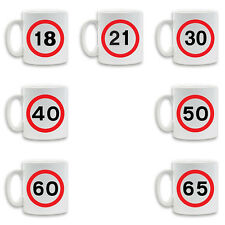 BIRTHDAY NOVELTY SPEED SIGN DESIGN Printed Coffee tea Ceramic Mug Novelty Gift