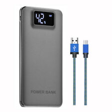 Ultrathin 50000mAh External LCD Power Bank Dual USB LED Portable Battery Charger