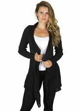 SALE Mak B Womens Knit Flyaway Open Front Cardigan MK3185