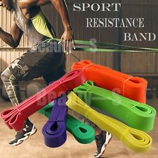 Exercise Resistance Bands Pull Up Assist Bands Fitness Gymnastics Flexibility DD