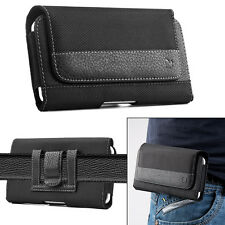 Leather Horizontal Belt Clip Case Pouch Cover Holster For iPhone 6s Plus Samsung