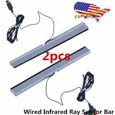 New Wired Infrared Ray Sensor Bar for Nintendo Wii Remote Controller Pro DP