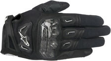 Alpinestars Mens Black SMX-2 Air Carbon v2 Leather Motorcycle Road Riding Gloves
