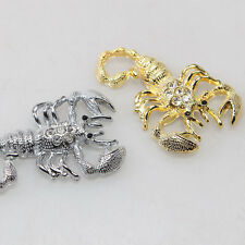 3D Zircon Metal Scorpion Decals Auto Decor Car Styling Sticker Badge Emblem Gold