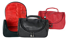 JeJo Beauty-Cases Cosmetic Bag Toiletry Bag Make-up bag in Leather Look