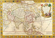 Poster Print Antique Old Maps Old Map Of The World Reprint 16