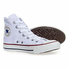 Converse All Star Unisex Chuck Taylor Hi-tops Canvas Casual Plimsolls White