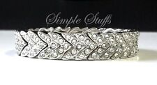 Charming looking Silver Diamond leaf Spacer Beads Bracelet
