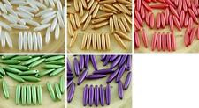 30pcs Pastel Pearl Pearl Czech Glass PRECIOSA Thorn Dagger Beads Flat Leaf 5mm x