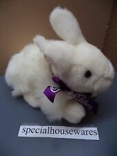 "Cadbury Bunny Rabbit 7"" Plush White Bow Stuffed Animal Cute Soft Toy VGC Easter"