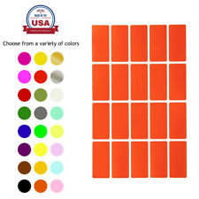 Rectangle Shape Stickers Colored Office File Labels Permanent Adhesive 300 Pack