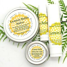 Lemon Balm Salve for Lips, Cold Sores, Bug Bites, Skin Rashes