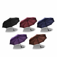 Lightweight 8 Ribs One Button Automatic Folding Umbrella for Men and Women
