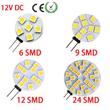 G4 5050 SMD 6/9/12/24 LED Car Boat Light Round Bulb Lamp DC12V Pure/Warm White S