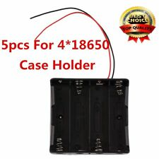 5pcs Plastic Battery Storage Case Box Holder For 4 x 18650 3.7V With Wire Leads