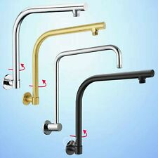Bathroom Brass Square/Round Wall Gooseneck Swivel Arm for Shower Head Chrome