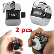 2PCS Sale High Quality Hand held Tally Counter 4 Digit Number Clicker Golf OW