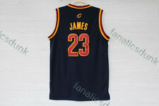 LeBron James #23 Cleveland Cavaliers Yellow Red White Blue NBA Swingman Jersey