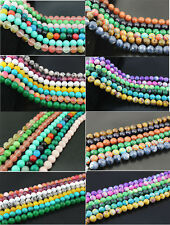 "15"" 12mm ASSORTED COLORS/MIXED Nature gemstone Round Loose Beads Wholesale 32pcs"