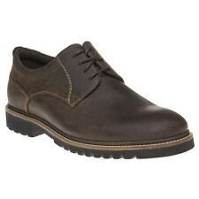 New Mens Rockport Brown Marshall Pt Oxford Leather Shoes Lace Up