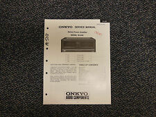 Onkyo M-508 Stereo Amplifier Service Manual Original OEM