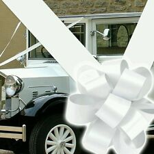 RIBBON AND BOW WEDDING CAR KIT. FOR WEDDING CAR.(LARGE BOWS) AND 8M RIBBON