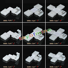 LED Strip Light Connector Adapter Cable Clip Solderless Waterproof 3528/5050/RGB