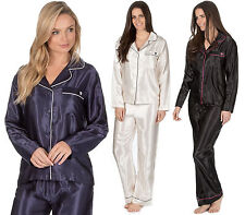 Womans Silky Satin Shirt Top Pyjamas Loungewear Nightwear Pjs Wedding Gift Set