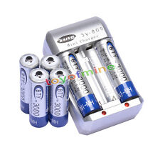 6x AA 3000mAh 1.2V Ni-MH rechargeable battery BTY for MP3 RC Toys Camera+Charger