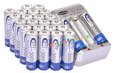 24x AA 3000mAh 1.2V Ni-MH rechargeable battery BTY for MP3 RC Toy Camera+Charger