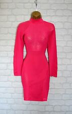 ~ZARA~ Hot Pink Celeb Bodycon Evening Midi Pencil Wiggle Party Dress 8 10 12 14