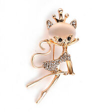Free Gift with Elegant Cat or Cute Owl  Brooch both with  Sparkling Stones