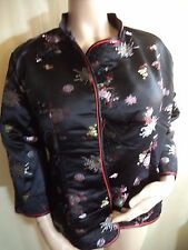 Womans Oriental Jacket 1 Side & Reversible Silk-Feel Sizes Large,1X, 2X & 3X NWT