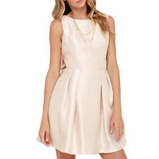 Women Sexy Backless Bowknot Sleeveless Skater Party Cocktail Club Mini Dress New