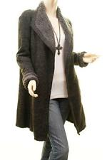 New Faux Lamb Shearling Sherpa Fleece Goth Steampunk Outerwear Long Jacket Coat