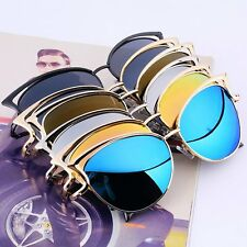 Women Mirrored Lenses Designer Retro Vintage Cat Eye Oversized Sunglasses LOT GF
