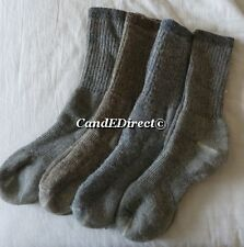 Pack of Four 4 Merino Wool Blend Walking Hiking Outdoor Trail Socks Size 3-7 NEW