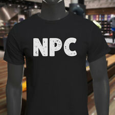 NPC GAMER VIDEO GAME HUMOR GEEK NERD FUNNY HOBBY Mens Black T-Shirt